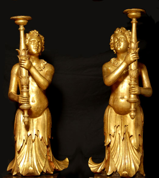 A pair of angel torchers