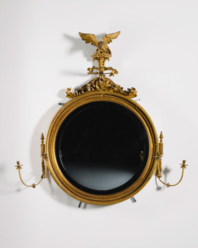 A Reagency carved giltwood mirror