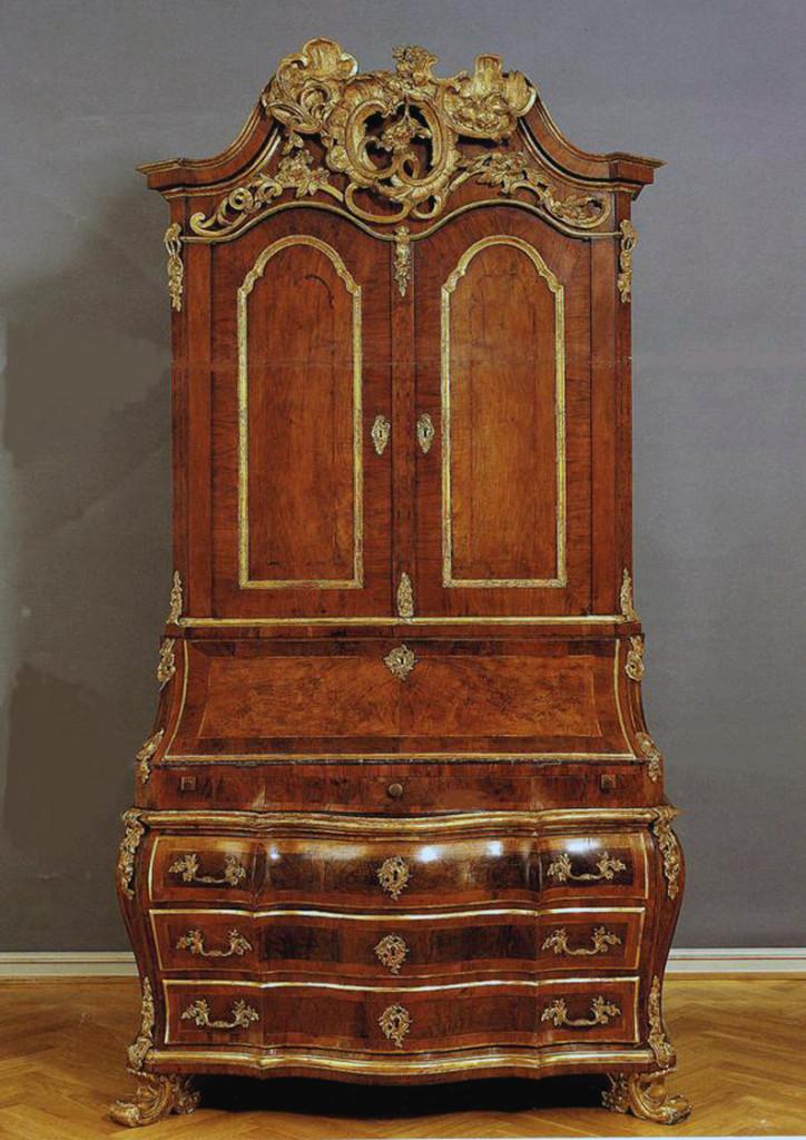 A bureau cabinet attributed to Mathias Ortmann