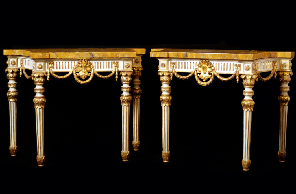 A pair of Louis XVI consoles