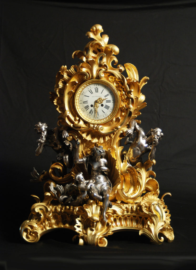 "Table clock ""Venus and Tritons"""