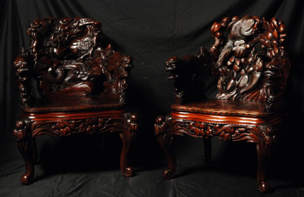 """A pair """"Dragons"""" armchair"""
