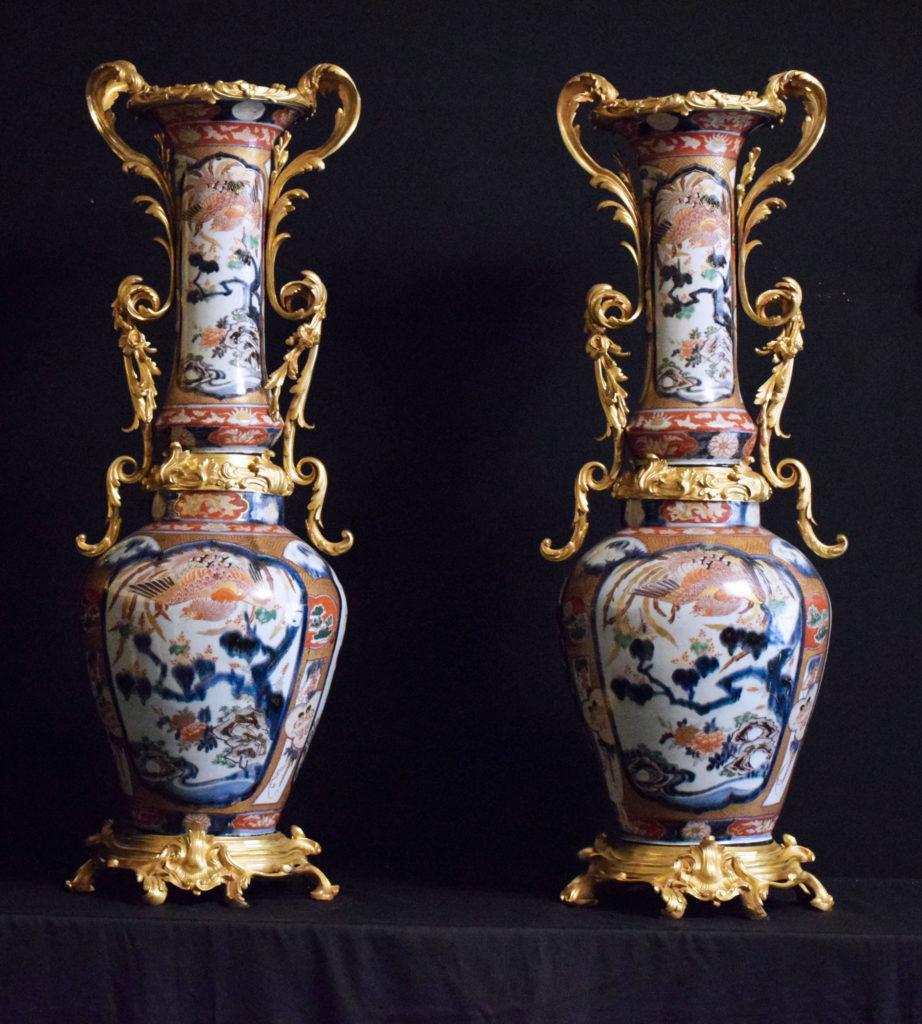 A pair of Imari vases