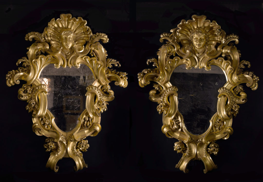 A pair of monumental mirrors (2)