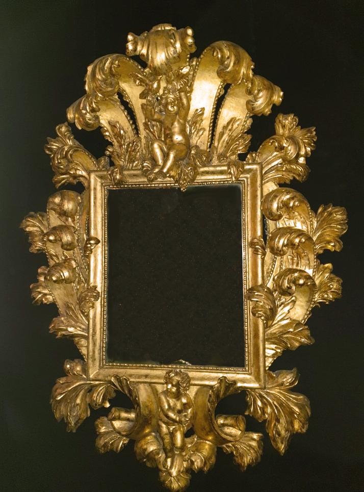 "A big roman mirror ""Putti"""